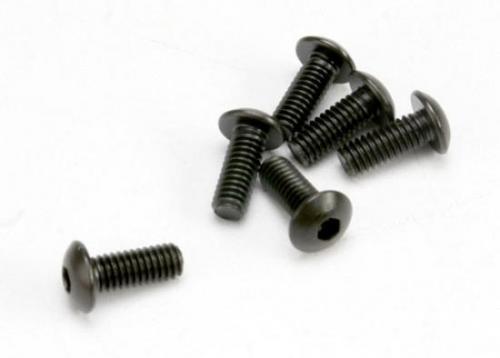 Traxxas Screws 4x10mm button-head machine (hex drive) (6)