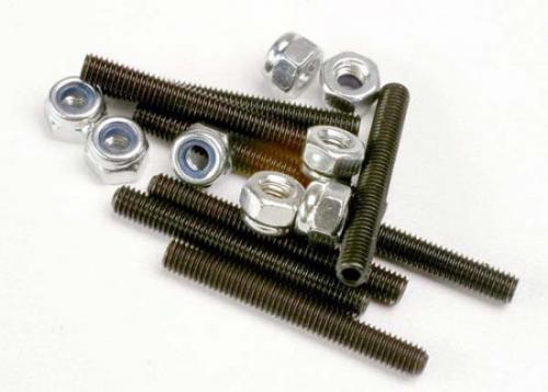 Traxxas Set (grub) screws 3x25mm (8)/ 3mm nylon locknuts (8)