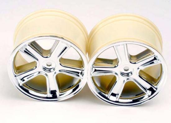 Traxxas Maxx Sport Wheels (mirror chrome finish) (2)