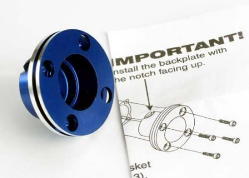 Traxxas Backplate machined aluminum (blue-anodized)(requires electric bump starter) (not for use with Nitro Stampede)