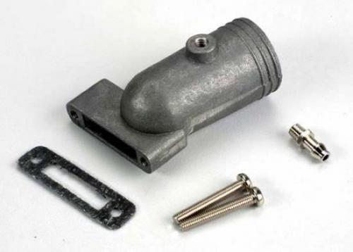 Traxxas Exhaust header/ header gasket/ pressure fitting/ fitting gasket/ header screws (2)