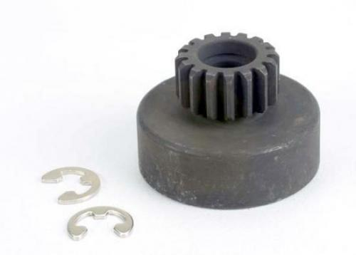 Traxxas Clutch bell (16-tooth)/5x8x0.5mm fiber washer (2)/ 5mm E-clip (requires 2728 - ball bearings 5x8x2.5mm (2)