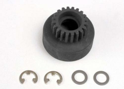 Traxxas Clutch bell (20-tooth)/ 5x8x0.5mm fiber washer (2)/ 5mm E-clip (requires 4611-ball bearings 5x11x4mm (2)