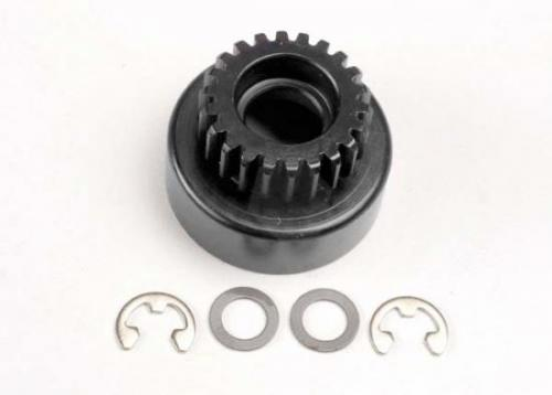 Traxxas Clutch bell (22-tooth)/ 5x8x0.5mm fiber washer (2)/ 5mm E-clip (requires 4611-ball bearings 5x11x4mm (2))