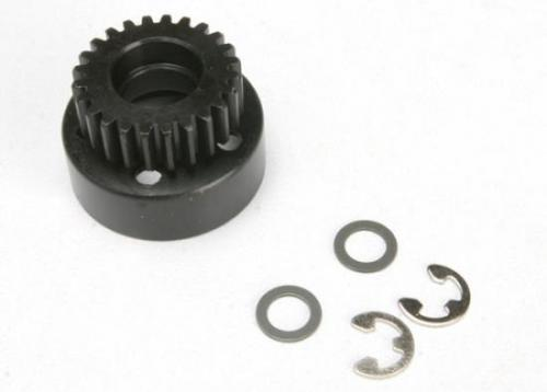 Traxxas Clutch bell (24-tooth)/ 5x8x0.5mm fiber washer (2)/ 5mm E-clip (requires 4611-ball bearings 5x11x4mm (2))