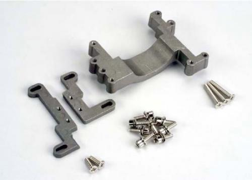 Traxxas Engine mount 2 piece aluminum (w/ screws) (N. Stampede)