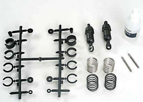 Traxxas Ultra Shocks (black) (short) (complete w/ spring preload spacers springs) (2)