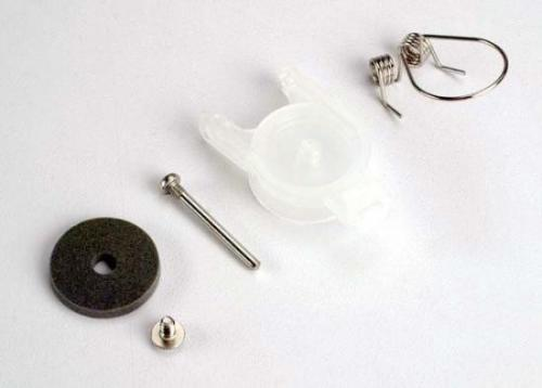 Traxxas Fuel tank rebuild kit (contains cap foam seal screw spring and screw pin. Replaces old style with primer bulb.)
