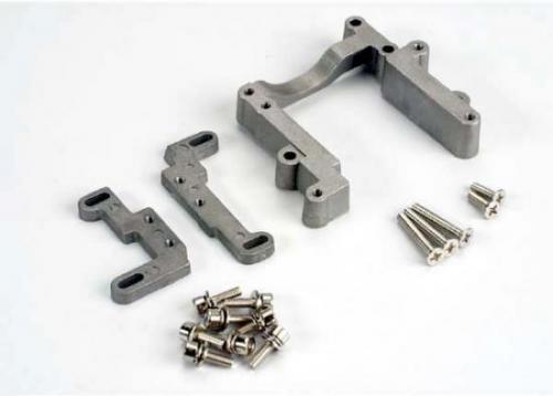 Traxxas Engine mount 2 piece aluminum (w/ screws) (N. Rustler/Sport)