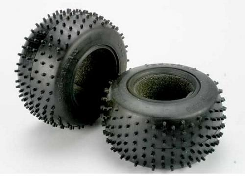 Traxxas Tires Pro-Trax spiked 2.2 (soft-compound)(rear) (2)/ foam inserts (2)