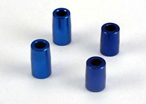 Traxxas Tapered bearing block spacers (blue-anodized aluminum) (3x6x10.75mm) (2)/(3x6x8.9mm) (2)