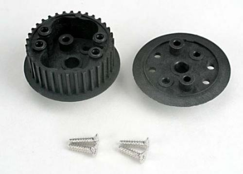 Traxxas Differential (34-groove)/ flanged side-cover screws