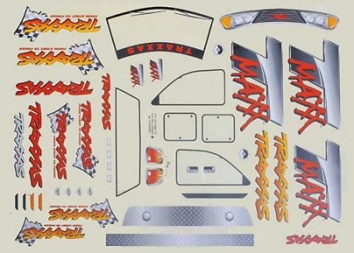 Traxxas Decal sheet T-Maxx (use with 4911X body)
