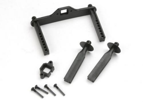 Traxxas Body mount posts front (2)/ body mount rear/ body mount screw pins (4)