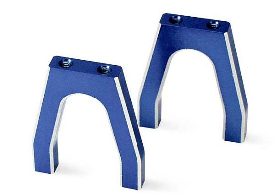 Traxxas Aluminum Throttle Servo Mounts blue-anodized