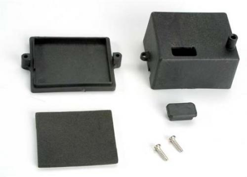 Traxxas Box receiver/ x-tal access rubber plug/ adhesive foam chassis pad
