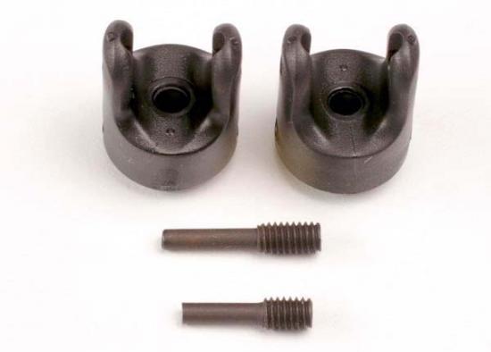 Traxxas Transmission output yokes (heavy duty) (2)/ set screw yoke pins M4/10 (1) M4/18.5 (1)