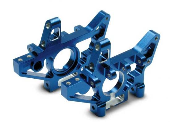 Traxxas Bulkheads rear (machined 6061-T6 aluminum) (blue)(L R) (requires use of 4939X suspension pins)