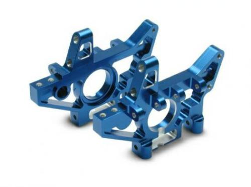 Traxxas Bulkheads front (machined 6061-T6 aluminum) (blue) (l r) (requires use of 4939X suspension pins)