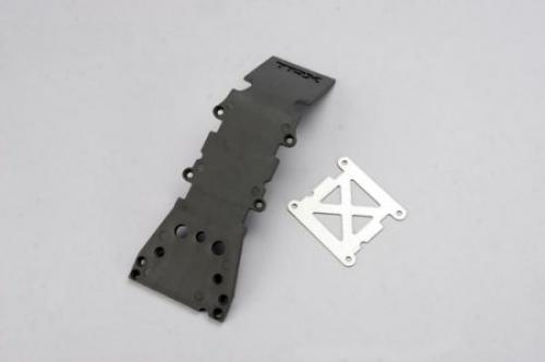 Traxxas Skidplate front plastic (grey)/ stainless steel plate