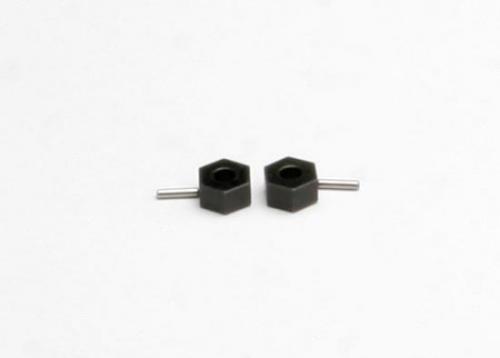 Traxxas Hex wheel hubs (tall offset 14x7.5mm) (2)/ axle pins (2.5x12mm) (2)