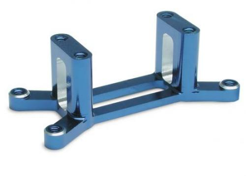 Traxxas Machined 6061-T6 blue-anodized aluminum engine mount (w/ screws) (Maxx Series)