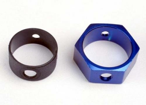 Traxxas Brake adapter hex aluminum (blue)