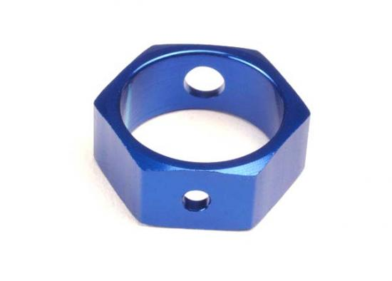 Traxxas Brake adapter hex aluminum (blue) (use with HD shafts)