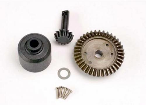 Traxxas Ring gear 37-T/ 13-T pinion/ diff carrier/6x10x0.5mm PTFE-coated washer (1)/ 2x8mm countersunk machine screws (4)