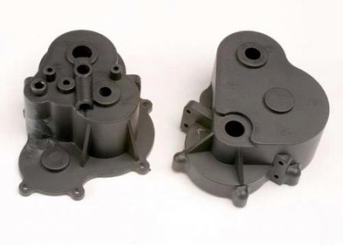 Traxxas Gearbox halves (F R)/ rubber access plug