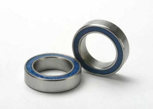 Traxxas Ball bearings blue rubber sealed (10x15x4mm) (2)