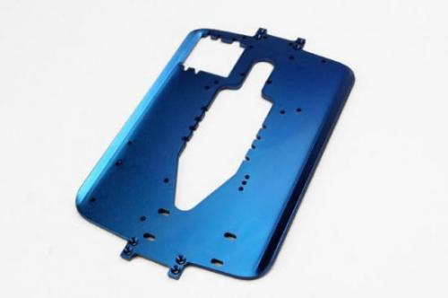 Traxxas 6061-T6 blue-anodized aluminum chassis (4.0mm) (standard replacement for all Maxx series)