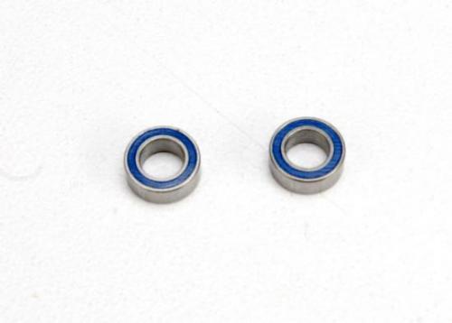 Traxxas Ball bearings blue rubber sealed (4x7x2.5mm) (2)