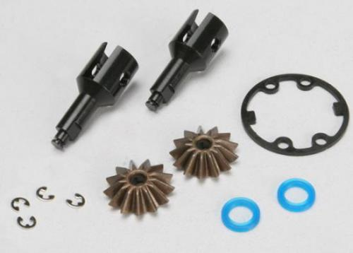 Traxxas Drive cups inner (2) (Jato) (for steel constant-velocity driveshafts)/ differential spider gears (2)/ gaskets hardware