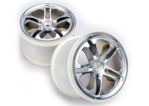 Traxxas SS (Split-Spoke) 3.8 Wheels (satin) (2) (fits Revo/Maxx series)