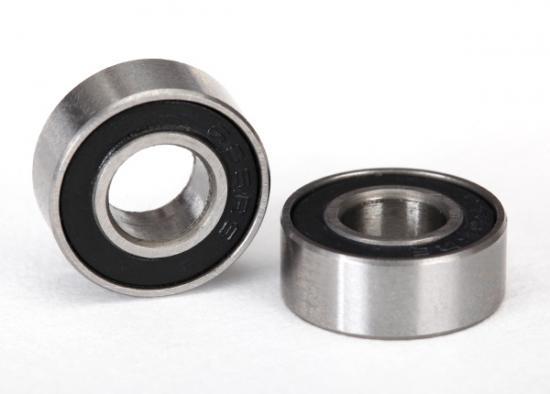 Traxxas Ball Bearings Black Rubber Sealed (6x13x5mm) (2)