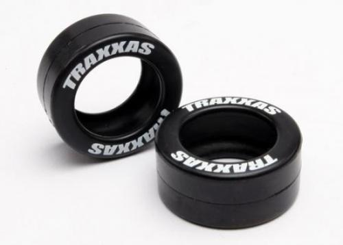 Traxxas Tires rubber (2) (fits Traxxas wheelie bar wheels)