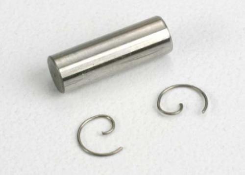 Traxxas Wrist pin/ wrist pin clips (2) (TRX 2.5 2.5R)