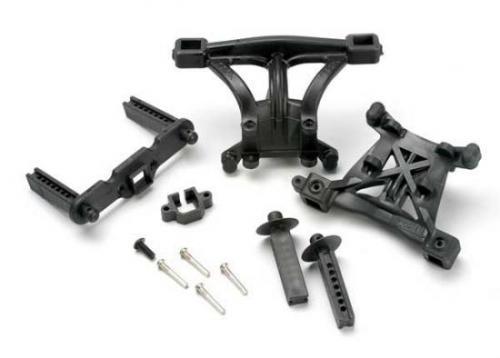 Traxxas Body mounts front rear/ body mount posts front rear/ 2.5x18mm screw pins (4)/ 4x10mm BCS (1)