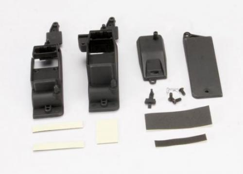 Traxxas Box receiver battery (2)/ cover/ foam pad adhesive/ charge jack plug (rubber)/ 4x8mm BCS (1)/ 4x12mm BCS (2) (contains both boxes to accommodate either AA battery holder or RX flat pack)