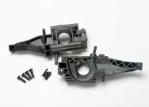 Traxxas Bulkhead rear (L R halves)/ diff retainer rear/ 4x14mm BCS (2)