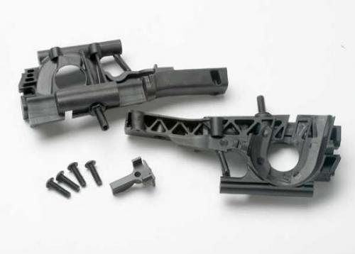 Traxxas Bulkhead front (L R halves)/ diff retainer/ 4x14mm BCS (4)