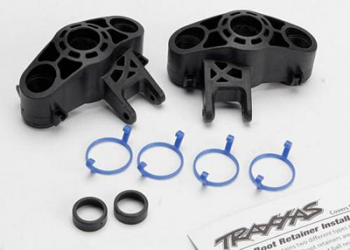 Traxxas Axle carriers left right (1 each) (use with larger 6x13mm ball bearings)/ bearing adapters (for 6x12mm ball bearings) (2)/ dust boot retainers (4)