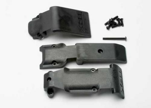 Traxxas Skid plate set front (2 pieces plastic)/ skid plate rear (1 piece plastic)