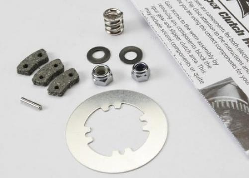 Traxxas Rebuild kit slipper clutch (steel disc/ friction pads (3)/ spring (2)/ 2x9.8mm pin/ 5x8mm MW/ 5.0mm NL (1)/ 4.0mm NL (1))