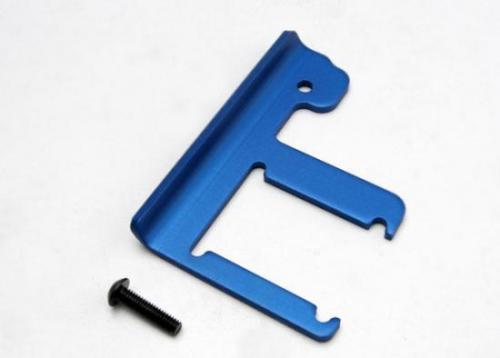 Traxxas Chassis brace Revo (3mm 6061-T6 aluminum) (blue-anodized)/ 4x16mm BCS (works with both extended and standard length chassis)