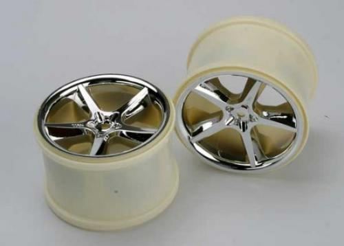 Traxxas Gemini 3.8 Wheels (chrome) (2) (also fits Maxx series)