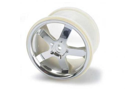 Traxxas Hurricane 3.8 Wheels (chrome) (2) (also fits Maxx series)