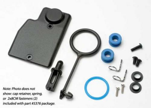 Traxxas Rebuild kit fuel tank (includes: mounting post grommets (2) tank guard mounting clips (2) cap o-ring cap o-ring retainer cap pull ring spring hardware)