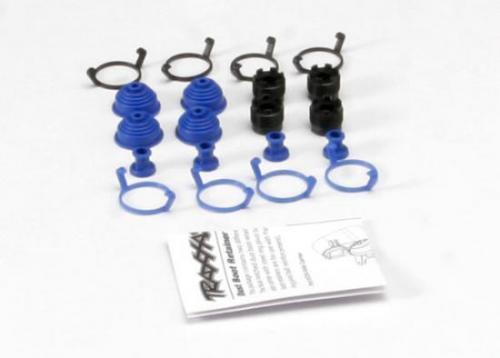 Traxxas Pivot ball caps (4)/ dust boots rubber (4)/ dust plugs rubber (4)/ dust boot retainers black (4) blue (4)